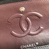 CHANEL 1112 Classic Handbag Grained Calfskin & Gold-Tone Metal (Black)