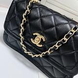CHANEL AS2055 New Sheepskin Lingge Flap Bag Black