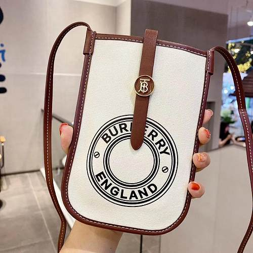 BURBERRY INSPIRED PU LEATHER  UNIVERSAL PHONE CASE WITH LANYARD FOR IPHONE SAMSUNG HUAWEI  9G4K028