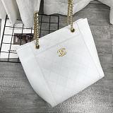 CHANEL5895 Chain Crossbody Small Shopping Bag White