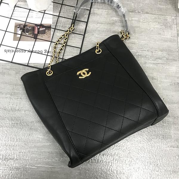 CHANEL5895 Chain Crossbody Small Shopping Bag Black
