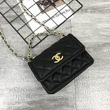 CHANEL 5894 New Sheepskin Lingge Flap Small Bag Black(Small)