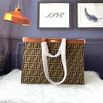Fendi PEEKABOO X-TOTE Embroidered Canvas Bag Shopping Tote Bag
