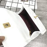CHANEL 5894 New Sheepskin Lingge Flap Small Bag White(Small)