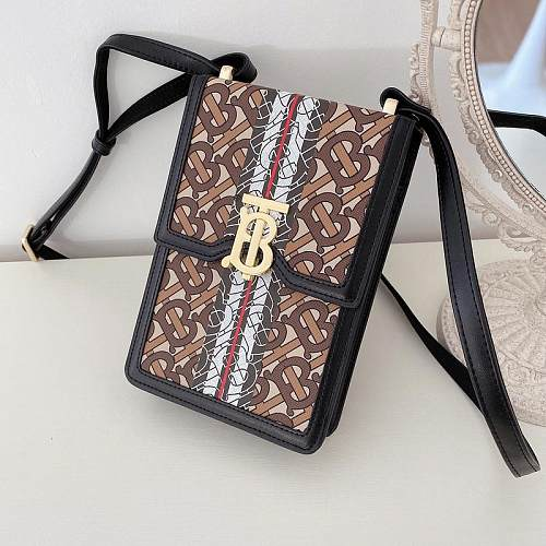 BURBERRY INSPIRED PU LEATHER  UNIVERSAL PHONE CASE WITH LANYARD FOR IPHONE SAMSUNG HUAWEI  UES4040