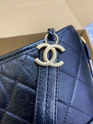 CHANEL'S A91810 Gabrielle Small Hobo Bag Black