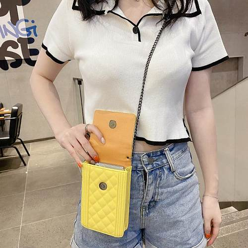 CHANEL INSPIRED PU LEATHER  UNIVERSAL PHONE CASE WITH LANYARD FOR IPHONE SAMSUNG HUAWEI  HSDB040