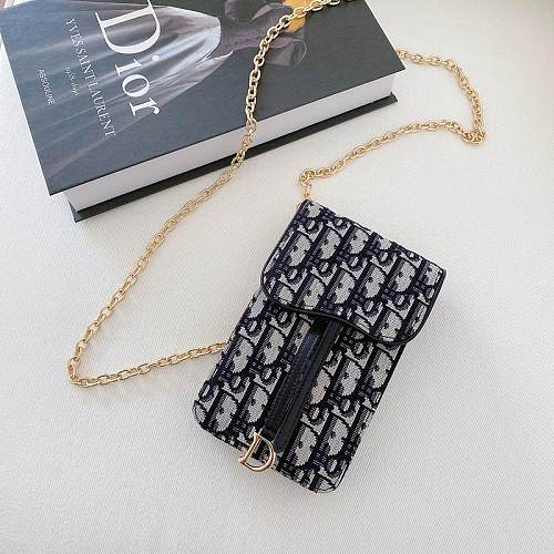 DIOR INSPIRED PU LEATHER UNIVERSAL PHONE CASE BAG WITH LANYARD FOR IPHONE SAMSUNG HUAWEI SYSC040
