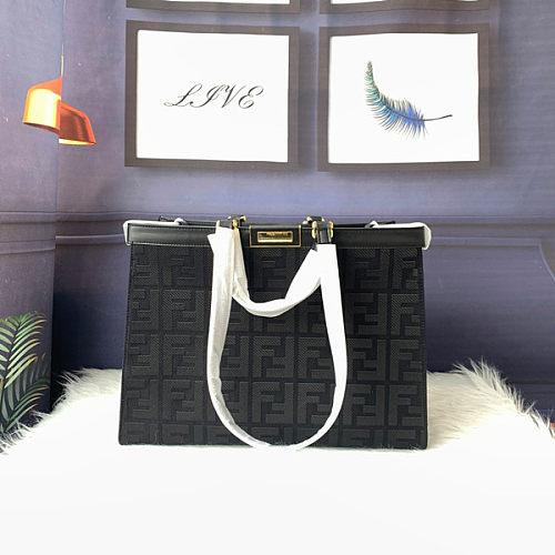Fendi PEEKABOO X-TOTE embroidered canvas bag