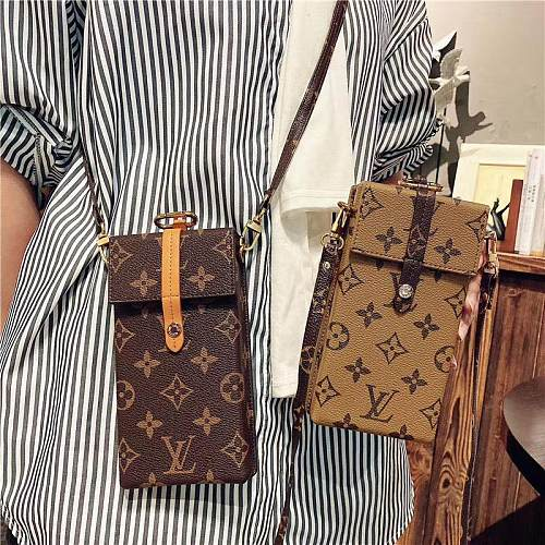 LOUIS VUITTON INSPIRED LEATHER  UNIVERSAL PHONE CASE BAG WITH LANYARD FOR IPHONE SAMSUNG HUAWEI  L04S040