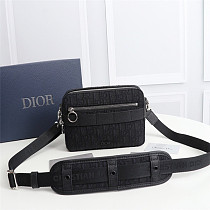 DIOR 1SFPO101 SAFARI MESSENGER BAG BLACK