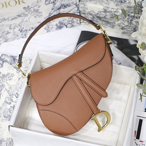 DIOR M0446CBAA GRAINED CALFSKIN SADDLE BAG BLUSH