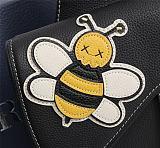 DIOR 1ADPO093 BEE SHAWN SADDLE BAG BLACK