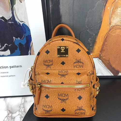 Luxury Replica MCM backpack with logo knock off mcm bag