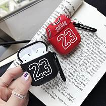 Air Jordan 23 Jersey Silicone Protective Shockproof Case For Apple Airpods 1 & 2
