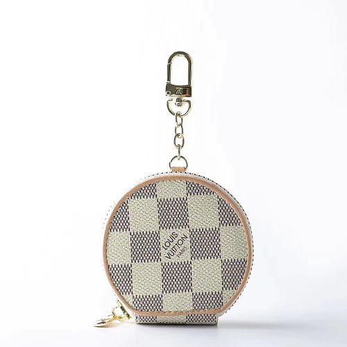Louis Vuitton Style Zipper Luxury Leather Classic Damier Protective Case For Apple Airpods Pro 1 & 2