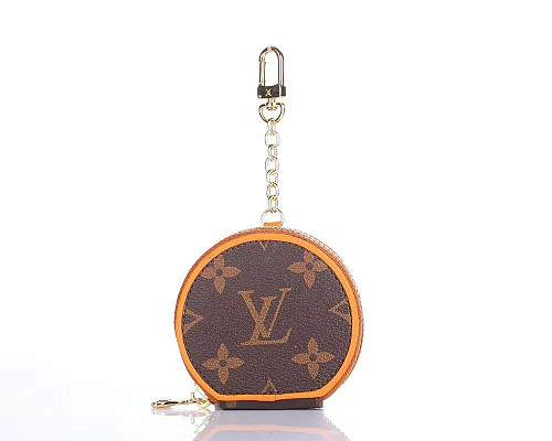 Louis Vuitton Style Zipper Luxury Leather Classic Monogram Protective Case For Apple Airpods Pro 1 & 2