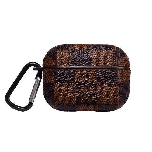 LV Checkered AirPods Pro Case - Brown