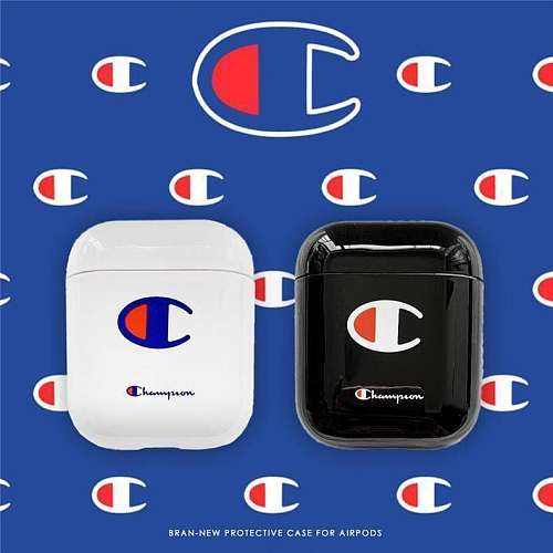 Champion Style Street Fashion Classic Logo Protective AirPods 1 2 Case
