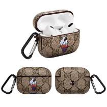GUCCI  Style Donald Duck Leather Protective Case For Apple Airpods Pro