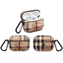 Burberry Style Classic Leather Protective Case For Apple Airpods Pro