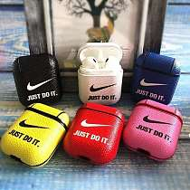 Nike Style Candy Color Leather Protective Case AirPods 1 & 2
