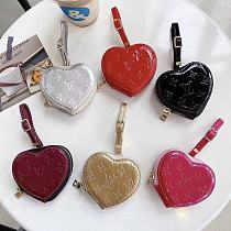 Louis Vuitton Style Heart Glossy Protective Case For Apple Airpods 1 & 2 & Pro