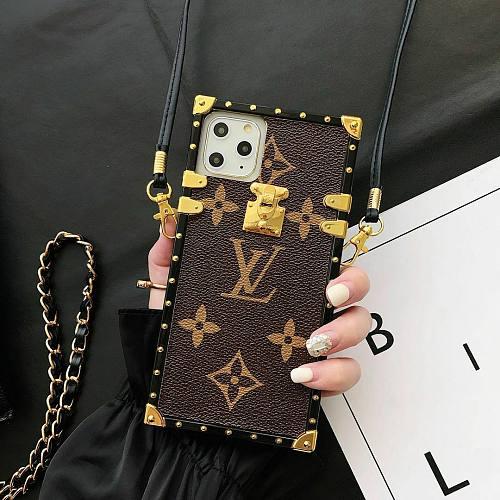 LOUIS VUITTON Luxury LV Square Trunk Design iPhone Case