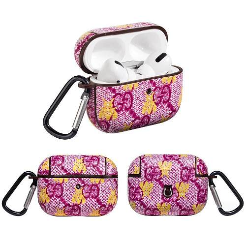 GUCCI  Style Pink Bee Protective Case For Apple Airpods Pro