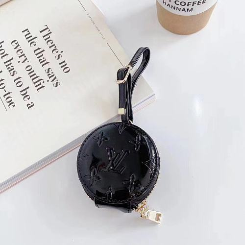 Louis Vuitton Style Round Corner Protective Case For Apple Airpods 1 & 2 & Pro