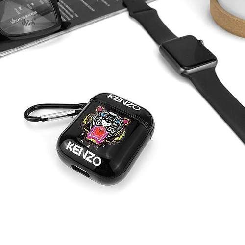 Kenzo Style Glossy Tiger Hard Silicone Protective Shockproof Case For Apple Airpods 1 & 2
