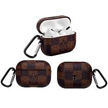 LV LOUIS VUITTON Damier Brown Luxury Leather Protective Case For Apple Airpods Pro