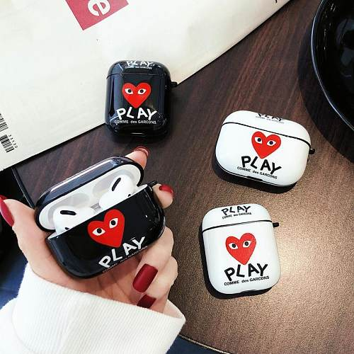 CDG Style Glossy Silicone Protective Case For Apple Airpods Pro