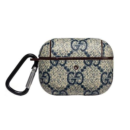 GUCCI  Style Leather Navy Protective Case For Apple Airpods Pro