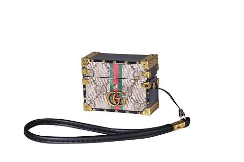 Gucci Style Classic Marmont Trunk Protective Case For Apple Airpods Pro