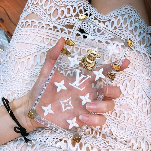 LOUIS VUITTON Transparent White LV Inspired Trunk iPhone Case