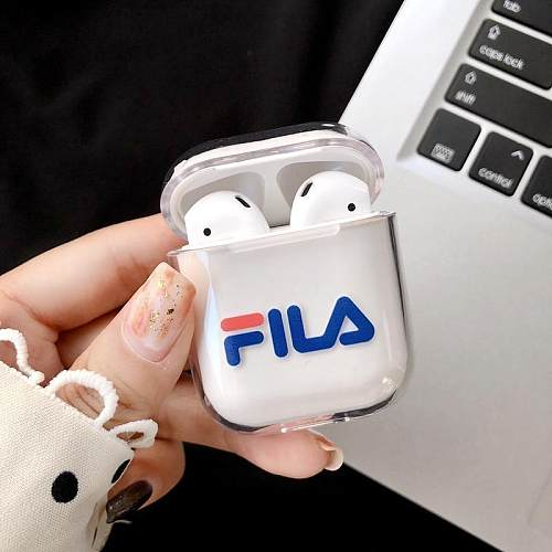 FILA Style Dickies Sports Clear Hard Protective Shockproof Case For Apple Airpods 1 & 2