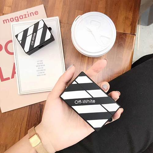 OFF White Style Box Silicone Protective Case For Apple Airpods Pro