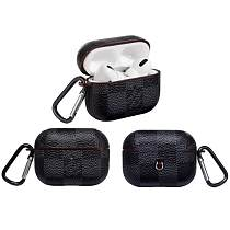 LV LOUIS VUITTON Black Damier Leather Classic Protective Case For Apple Airpods Pro