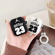 Jordan 23 Basketball Silicone Protective Shockproof Case For Apple Airpods 1 & 2