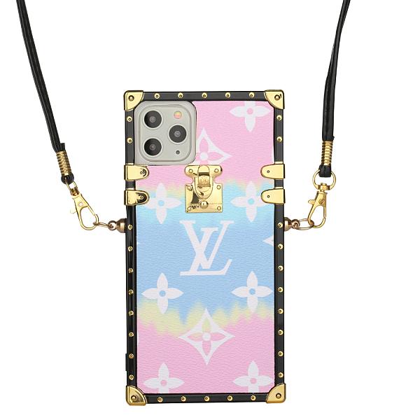 LOUIS VUITTON Cotton Candy Gradient LV Trunk iPhone Case