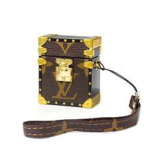LV LOUIS VUITTON Trunk Design Leather ShockProof AirPods Case