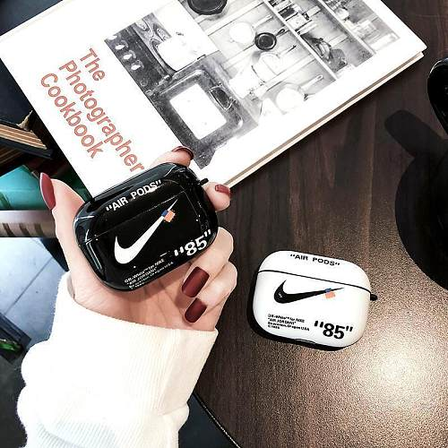 NIKE x Off White Style Glossy Silicone Protective Case For Apple Airpods Pro