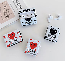 Comme Des Garçons CDG Love Play Heart Case For Apple Airpods Pro Airpods 1 2