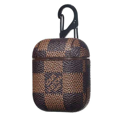LOUIS VUITTON LUXURY CHECKERED LEATHER SHOCKPROOF AIRPODS CASE
