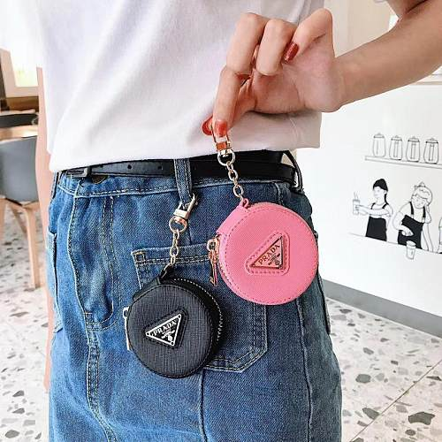 PRADA Leather earphone Case For Airpods 1 2 3 pro True wireless 100% Protective Accessories Pink Black Blue
