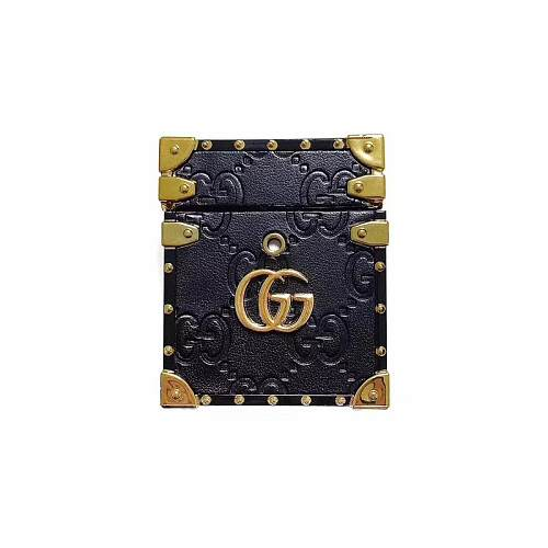 GUCCI PU Leather AirPods Case 1/2 Fashion Protective Cover Earphone Case Protector