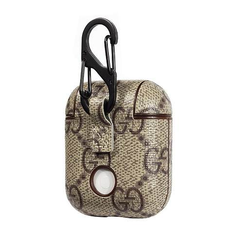 GUCCI LIGHT BROWN SHOCKPROOF AIRPODS CASE