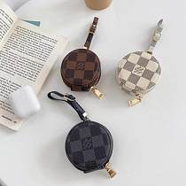 LOUIS VUITTON Soft Leather Universal AirPods Case 1/2 Or Pro With Anti lost Keychain