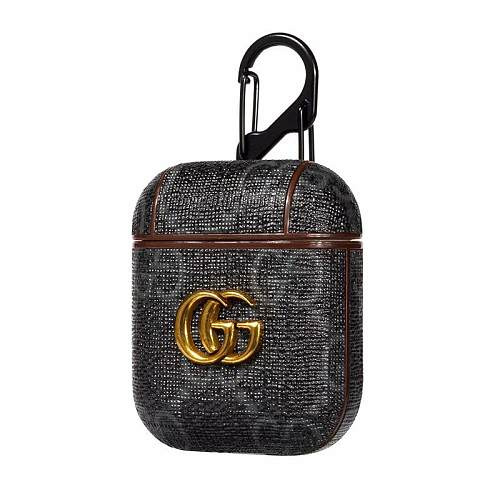 GUCCI BLACK SHOCKPROOF AIRPODS CASE